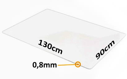 Podkładka pod fotel na kółkach - 130x90cm x 0,8mm