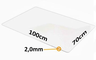 Mata pod krzesło obrotowe -  100x70cm x 2mm